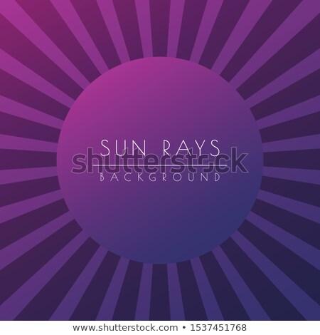 Sol verão roxo brilhante viga estoque Foto stock © kyryloff