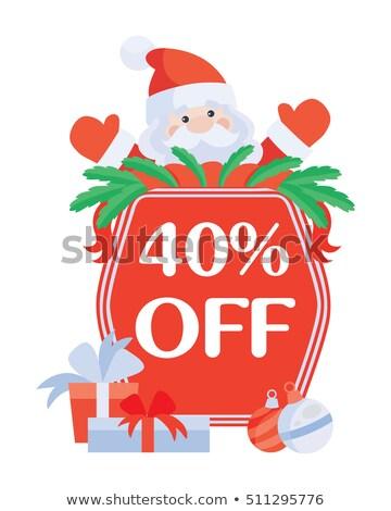 Nagy karácsony vásár 40 százalék el Stock fotó © robuart