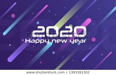 3d style 2020 text design new year background Stock photo © SArts