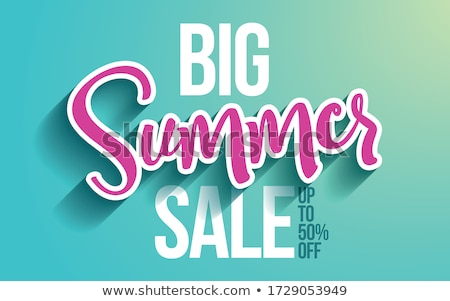 Final Sale Promo Poster with Landscape Vector Stock photo © robuart
