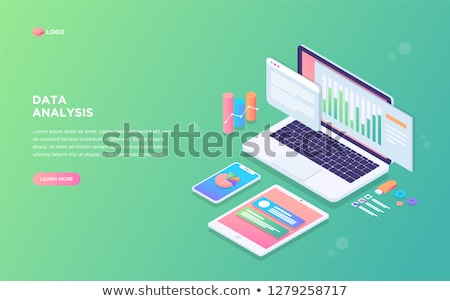 Science and research - modern isometric vector web banner Stock photo © Decorwithme