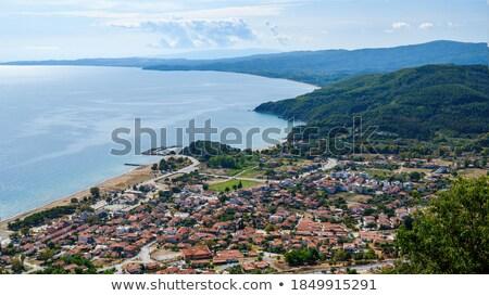 Средиземное море стоить Blue Sky пространстве скопировать пейзаж Сток-фото © photosil