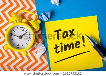 Accounting And Saving Business Tax Stock photo © AndreyPopov