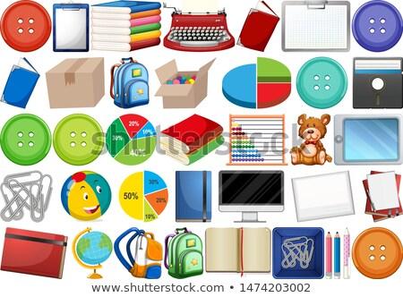 Haushalt Objekte Karikatur Clip Art Illustration Set Stock foto © izakowski