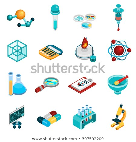 Biológia alkotóelem baktériumok izometrikus ikon vektor Stock fotó © pikepicture