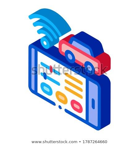 Wifi izometrik ikon vektör imzalamak Stok fotoğraf © pikepicture