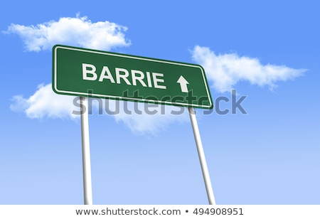 Ontario znak autostrady wysoki graficzne Chmura Zdjęcia stock © kbuntu