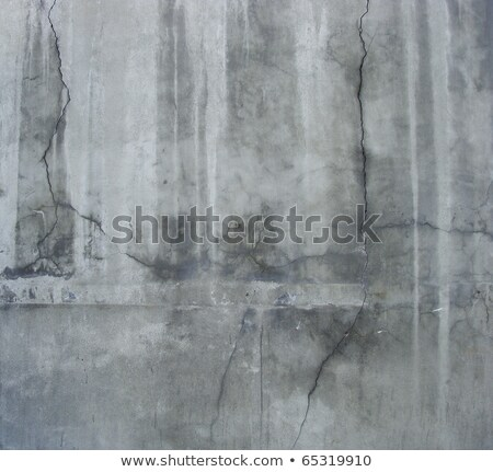 large section of a dirty grunge gray wall with white leaks and c Stock photo © Melvin07