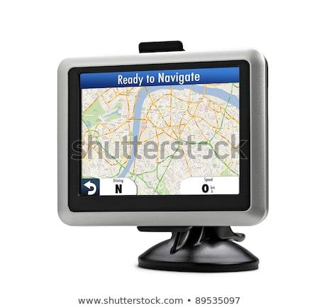 jármű · GPS · műszerfal · kilátás · szélvédő · autópálya - stock fotó © johnnychaos