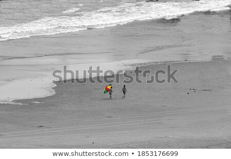Bisexual woman upon ocean Stock photo © Elenarts