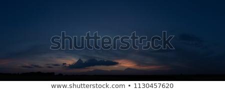 dark sunset stock photo © bobkeenan