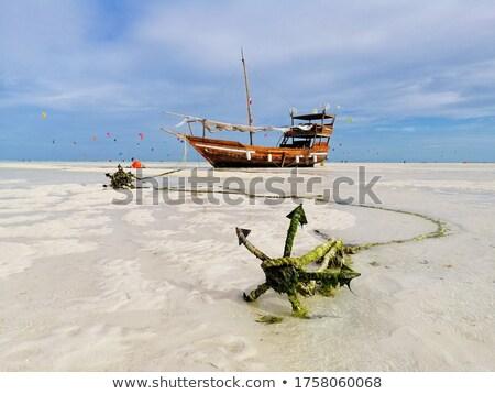 アンカー 古い 白砂 ビーチ 水 金属 ストックフォト © gant