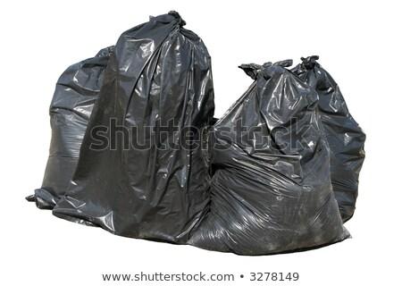 çanta · siyah · kauçuk · çöp · kutusu - stok fotoğraf © latent