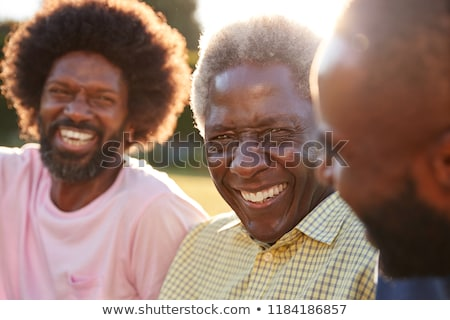 young black man and senior Stock photo © photography33