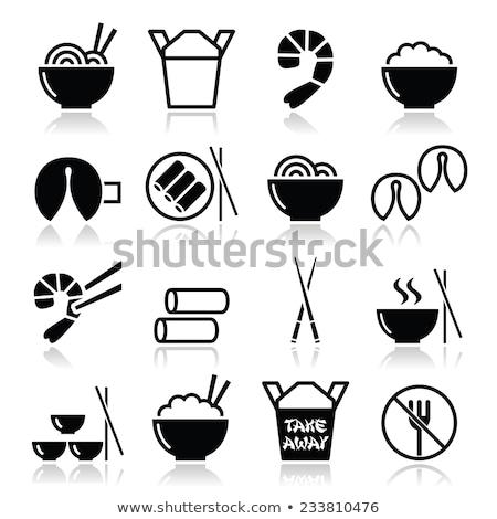 Chinese food icons Stock photo © sahua