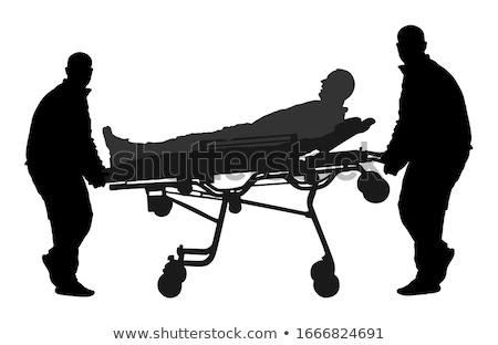 силуэта изолированный белый медицинской больницу флаг Сток-фото © lkeskinen