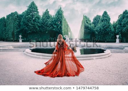 Mulher azul isolado preto sensual luz Foto stock © zastavkin
