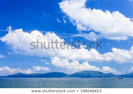 морской пейзаж Гонконг побережье солнце морем фон Сток-фото © kawing921
