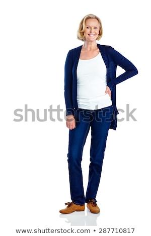 笑みを浮かべて 美しい ファッション スタイル ストックフォト © Eireann