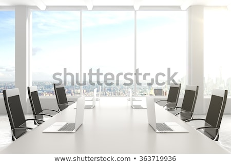 conference table on modern office with big window Stock photo © Victoria_Andreas