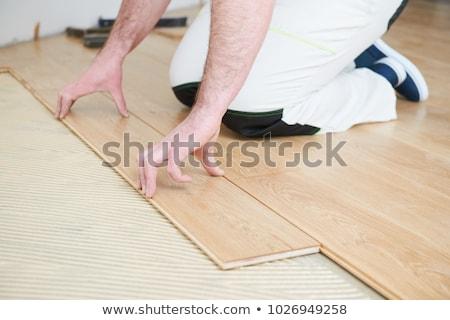 joiner laying parquet Stock photo © photography33