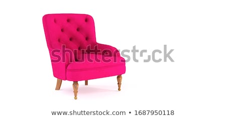 Stock photo: Pink modern armchair isolated on white