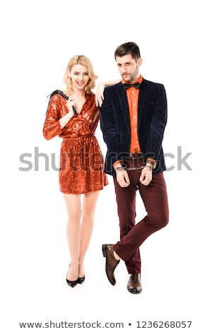 couple with handcuffs Stock photo © ongap