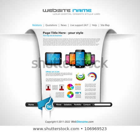 Modern web templave with paper style background and transparent shadows. Ideal for business website  Stock photo © DavidArts