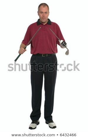 jogador · de · golfe · quebrado · clube · mãos · cara · homem - foto stock © RTimages