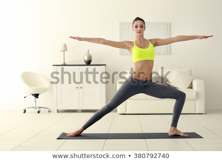 girl does sports exercises Stock photo © pzaxe