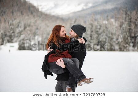 Jonge vrouw staren vriendje jonge lachen kleding Stockfoto © photography33