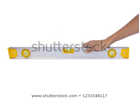 Spirit-level architect in hand Stock photo © photography33