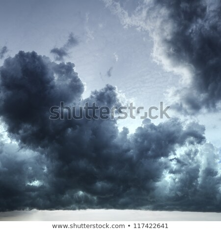Dramatic stormy sky. Square composition. Stock photo © moses