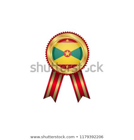 grenada rosette flag stock photo © milsiart