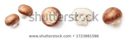 Mantar dilimleri ahşap beyaz Stok fotoğraf © zhekos