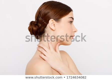 Imagine de stoc: Frumuseţe · portret · fată · gri · mână · păr