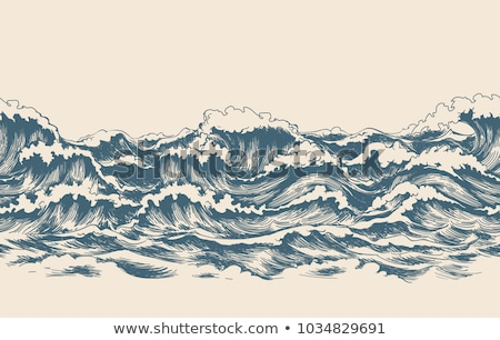 seamless ocean wave symbol pattern  Stock photo © creative_stock