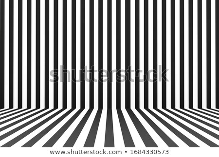 Empty Room With Striped Wallpaper Stock photo © benchart
