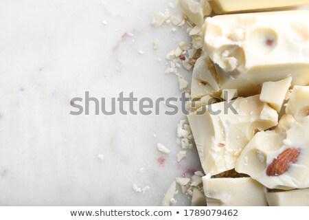 darabok · csokoládé · diók · fa · háttér · asztal - stock fotó © masha