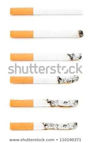 Különböző cigaretta égő fehér füst dohányzás Stock fotó © wavebreak_media