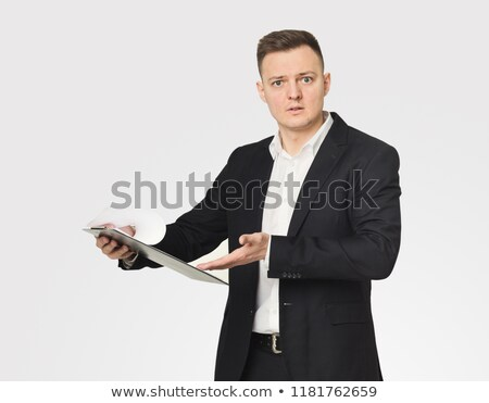 empresario · lectura · documento · mano · trabajo · mesa - foto stock © photography33