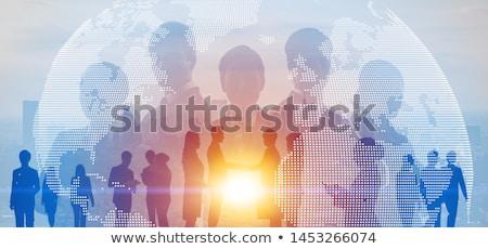 Global insan interaktif iletişim lider dünya gezegeni Stok fotoğraf © Lightsource