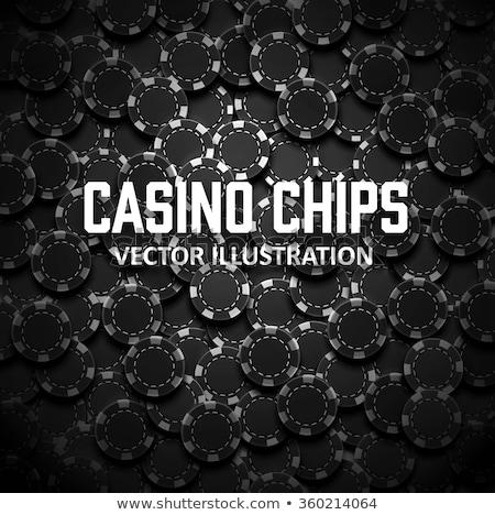 Kaszinó zsetonok póker kártya pénz játék szalag Stock fotó © carodi