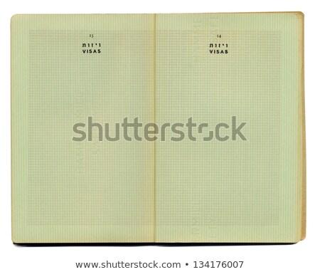 nyitva · útlevél · oldalak · különböző · bevándorlás · bélyegek - stock fotó © eldadcarin