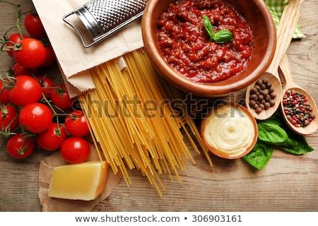 raw spaghetti and sauces Stock photo © M-studio