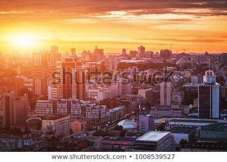 Сток-фото: закат · город · красивой · Бангкок · Таиланд · небе