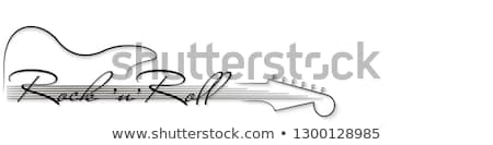 abstract guitar icon Stock photo © rioillustrator