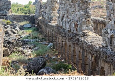 Pormenor antigo anfiteatro construção pedra teatro Foto stock © Mikko