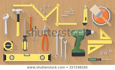 Foto stock: Precisão · ferramenta · branco