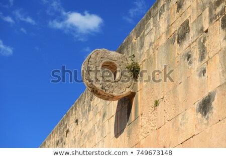 mayan pyramid ballcourt goal stock photo © ozgur
